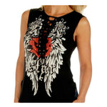 Rock Star Ladies Sleeveless Lace Up