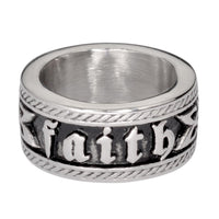 Ladies Faith Ring Wide Band