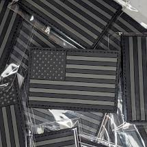 US Flag Patch Black and Gray 3.5 Inch - 3.5x1.9 inch