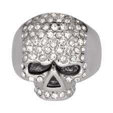 Ladies Bling Skull Imitation Diamond Ring