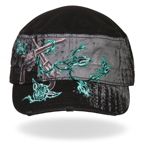 Ladies Guns and Roses Cadet Cap