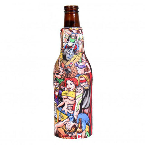 Bar Scene Bottle Wrap