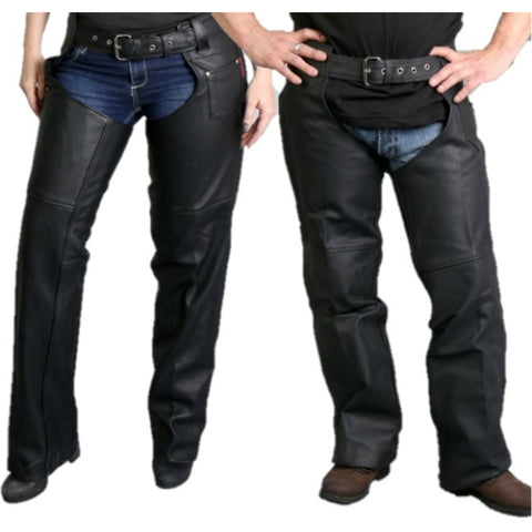Fully Lined Unisex Leather Chaps