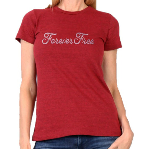 Forever Free Bling Ladies Full Cut Short Sleeve T-Shirt