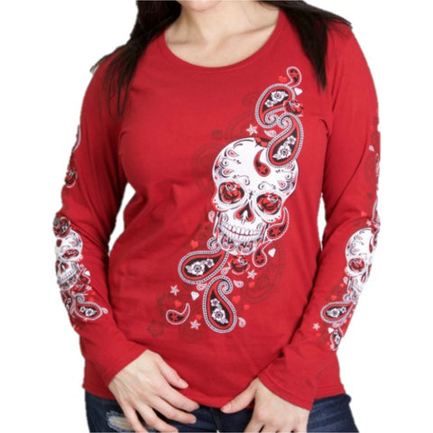 Sugar Paisley Ladies Long Sleeve Shirt