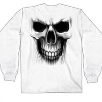 Ghost Skull White Long Sleeve Shirt