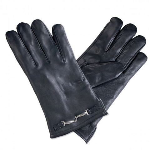 Ladies Black Leather Driving Glove