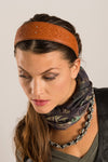 CELTIC EMBOSSED LEATHER HEADBAND