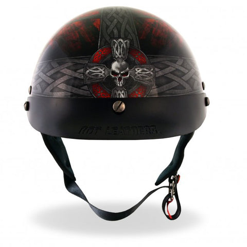 D.O.T. Celtic Cross Motorcycle Helmet