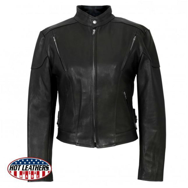 USA Made Women's Vented Leather Jacket
