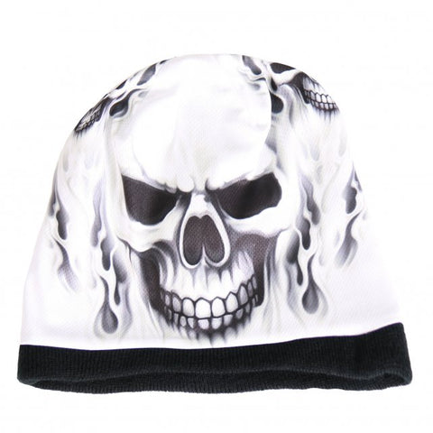 Ghost Skull Sublimated Beanie