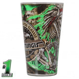 Official 2018 Sturgis Motorcycle Rally #1 Design Skeleton Chief Pub Glass 16oz
