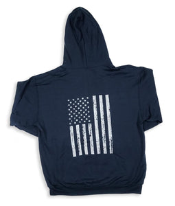 USA Truck Zippered Hoodie (Flag)