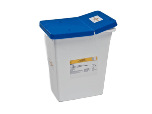 18 Gallon Pharmaceutical Waste Container - Hinged Lid (Case of 5)