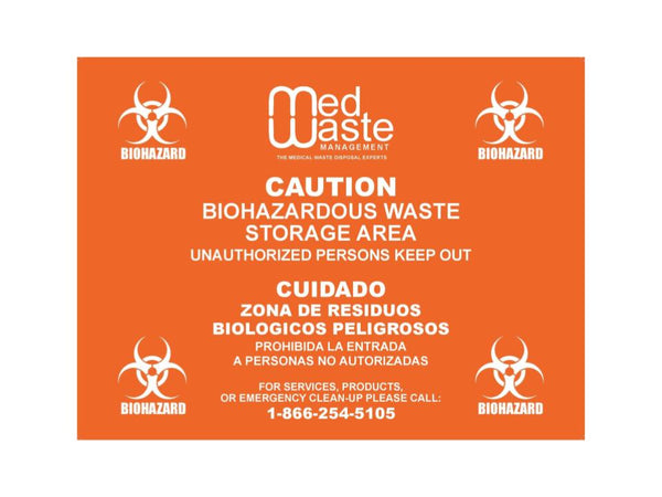 Biohazard Waste Door Label