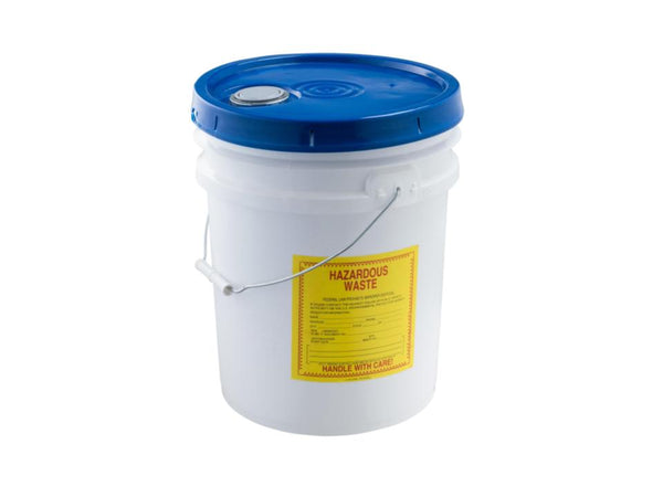5 Gallon Hazardous Waste Bucket- Snap Shut Lid With Screw Spout