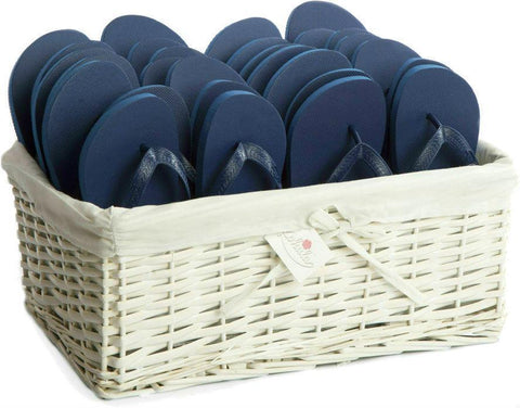 navy blue flip flops party pack