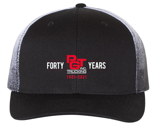 Richardson Printed Mesh Back Trucker Cap - 40th Anniversary