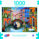 Puzzle | 1000 PC Romantic Holiday | Sunset in Venice - Magasins Hart | Hart Stores