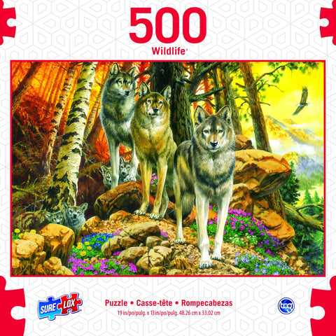 500pc Wolf Mothers and Cubs Puzzle