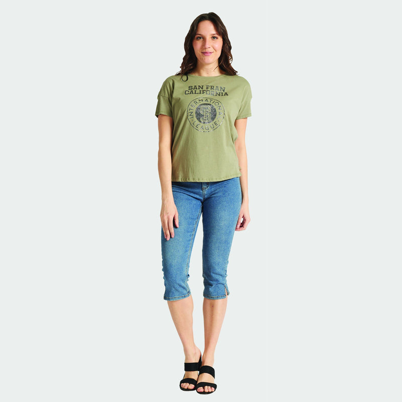 California - Graphic T-Shirt  - Olive - Magasins Hart | Hart Stores