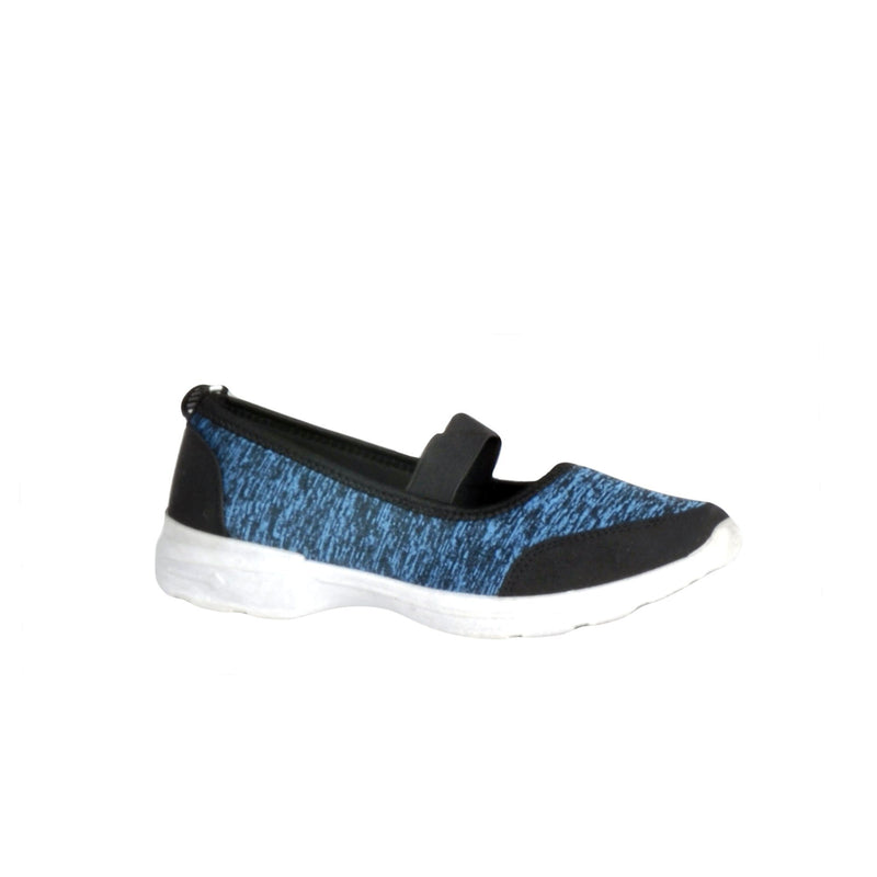 Ultra Comfy Walking Shoes With Strap - Navy Blue - Magasins Hart | Hart Stores
