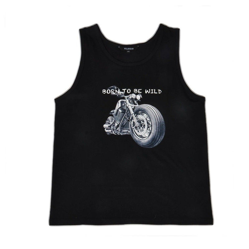 Polargear - BORN TO BE WILD - Graphic Tank Top - Black - Magasins Hart | Hart Stores