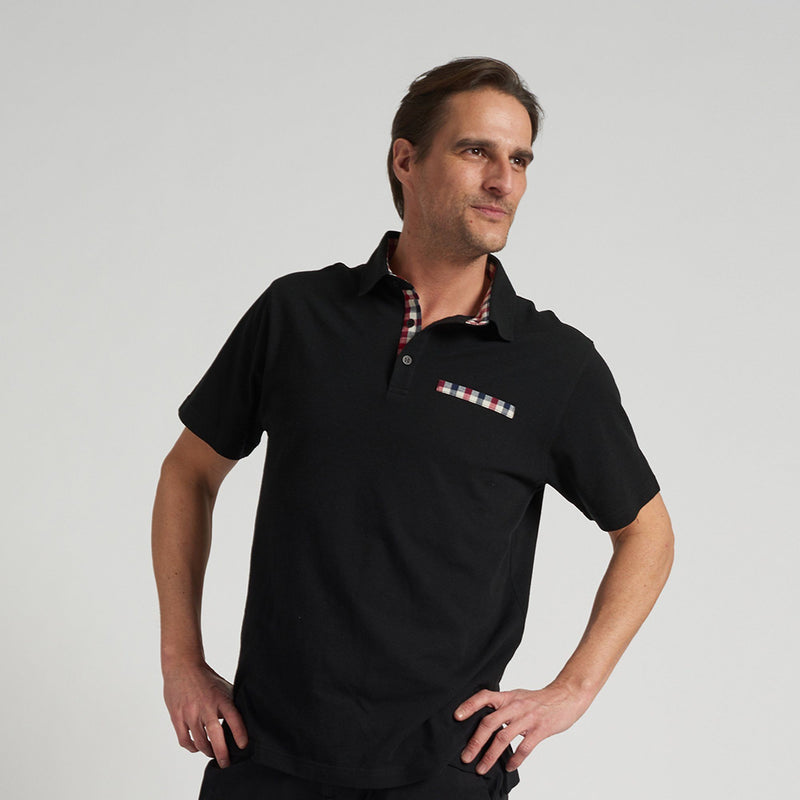 Polargear - Black Polo Shirt With A Decorative Pocket - Magasins Hart | Hart Stores