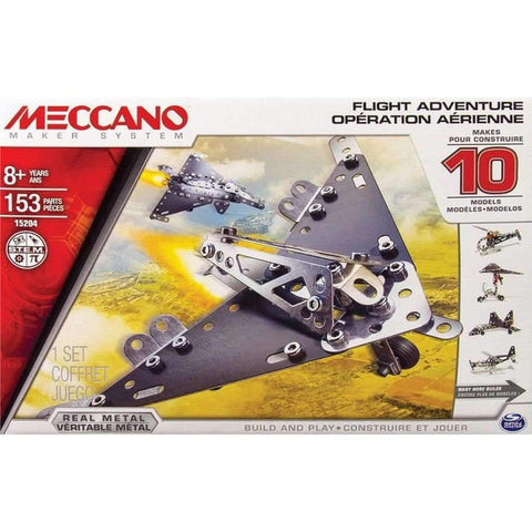 Meccano-flight Adventure 10 Model Set 153pcs