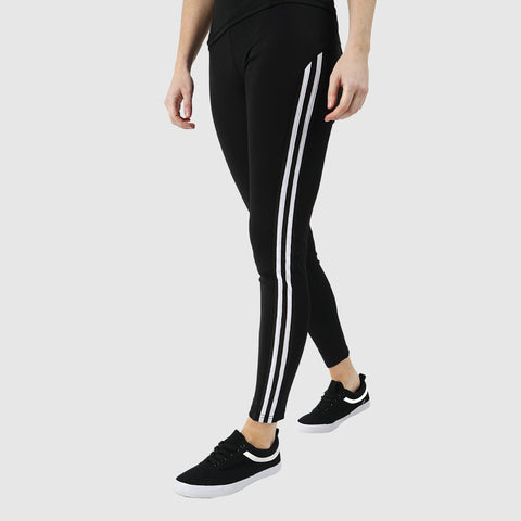 Ladies Leggings with Side Stripes