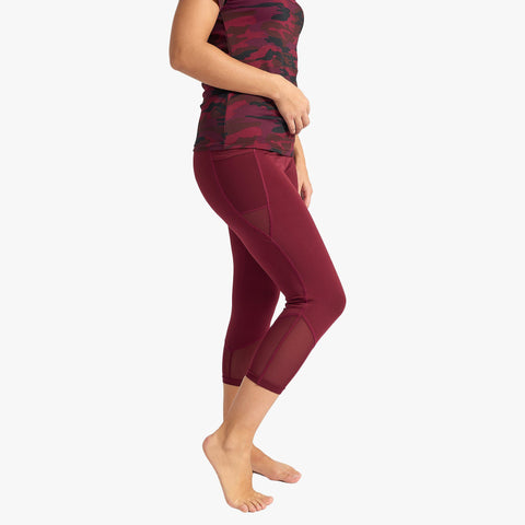 Burgundy Capri Legging
