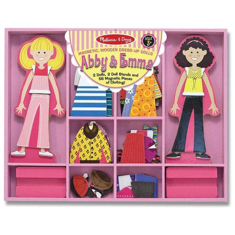 Melissa & Doug - Abby And Emma Magnetic Wooden Dress-Up