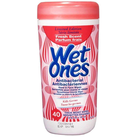 Wet Ones - Antibactierial Hand & Face Wipes