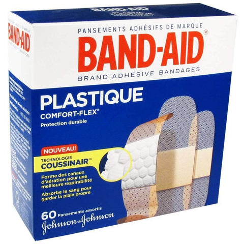 Band-Aid - 60 Assorted Plastic Bandages