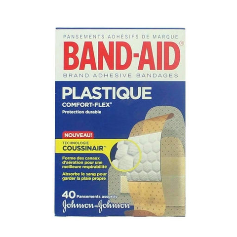 Band-Aid - 40 Assorted Plastic Bandages