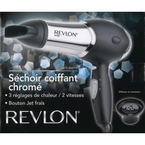 Revlon - Chrome Hair Dryer & Diffuser