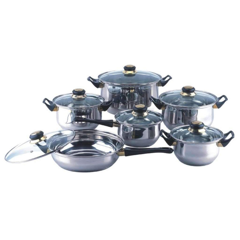 12 Piece Stainless Steel Cookware Set - Magasins Hart | Hart Stores