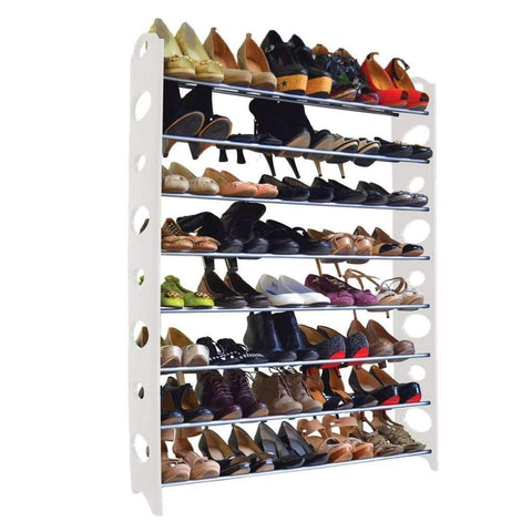 Studio 707 - 40 Pair Shoe Rack, White