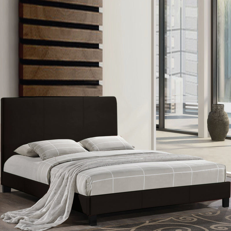 Queen Size Black Upholstered Platform Bed - Magasins Hart | Hart Stores