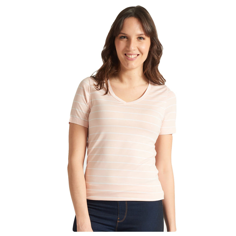 Baby Pink & White Striped T-Shirt - Magasins Hart | Hart Stores