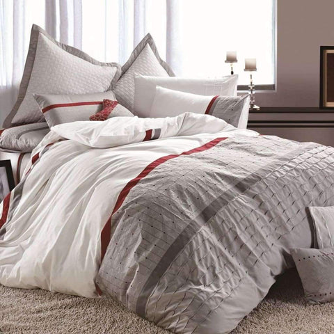 Adrien Lewis - Tally 3 Piece Embroidered Duvet Cover