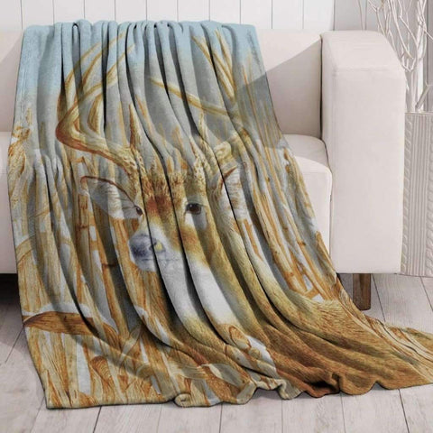 Lauren Taylor - Mink Printed Throw, Deer
