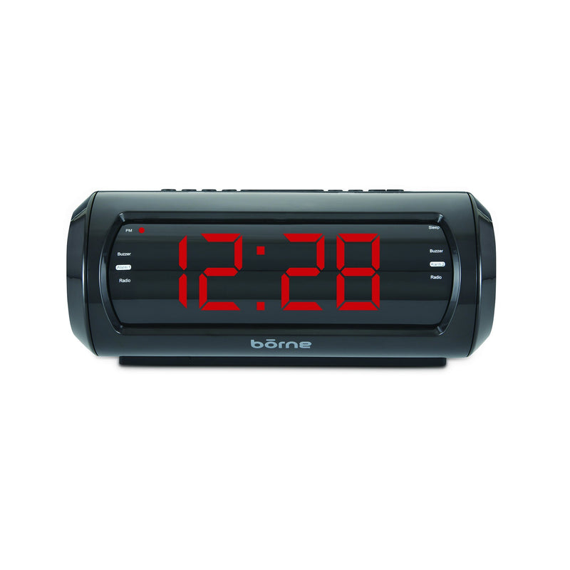 "bōrne - 1.8"" Digital Clock with AM/FM Radio - Magasins Hart 