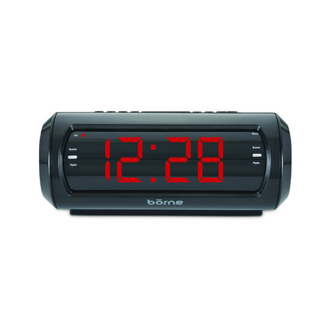 "Borne - 1.8"" Digital Clock with AM/FM Radio"