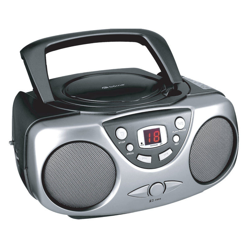 bōrne - Portable CD BoomBox AM/FM with AUX - Magasins Hart | Hart Stores