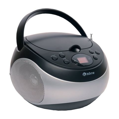 Borne - Portable CD Boombox with AM/FM Radio