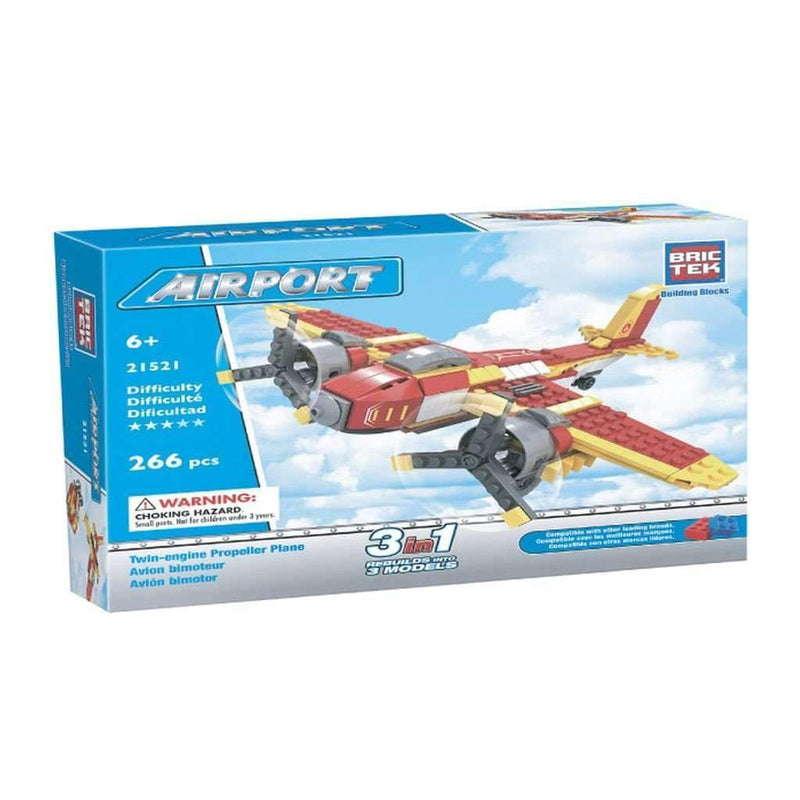 BricTek - Airport Twin-Engine Propeller Plane - Magasins Hart | Hart Stores