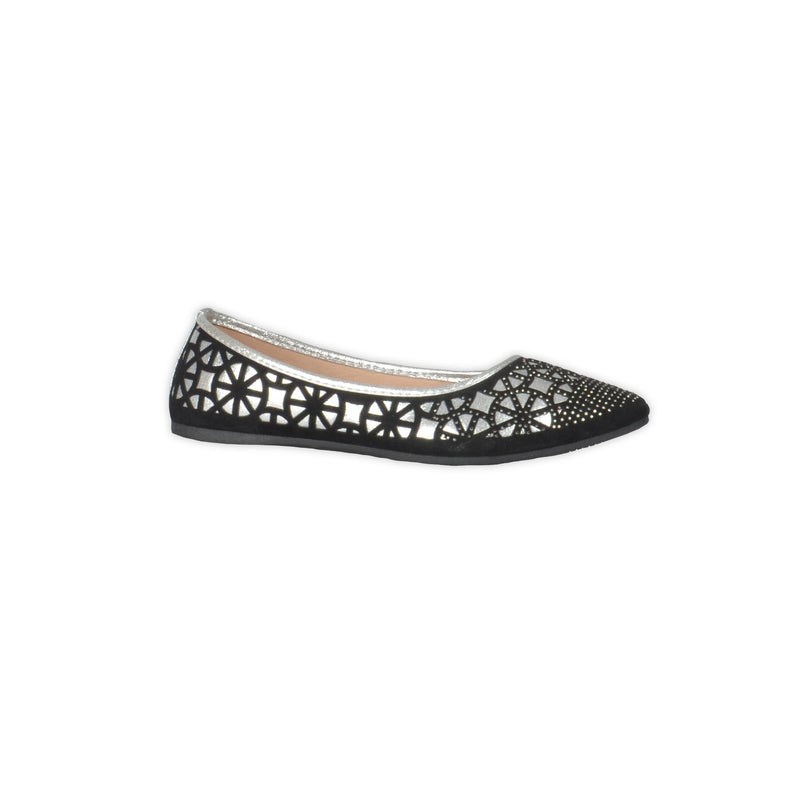 Sparkly Ballerinas - Black & Silver - Magasins Hart | Hart Stores