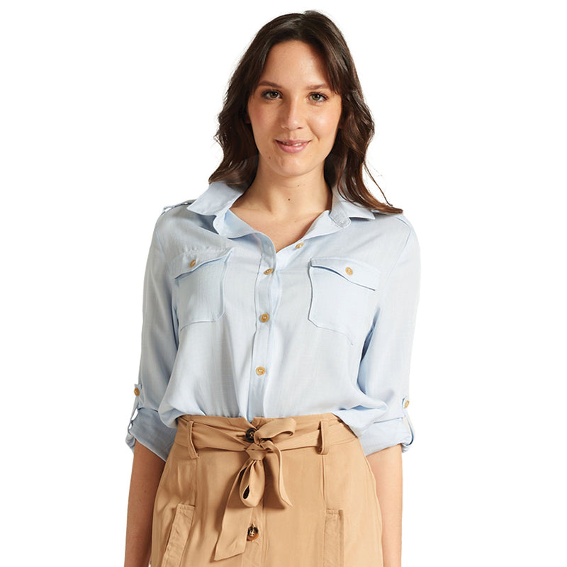 Utility Blouse - Light Blue - Magasins Hart | Hart Stores