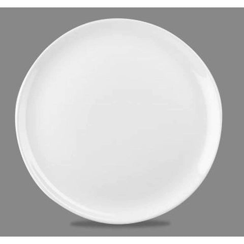"10.5"" Coupe Porcelain Plate, White"